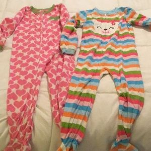 2 pair Cozy Footed PJ's